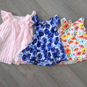 Set of 3 Joe Fresh 3-6 month dresses